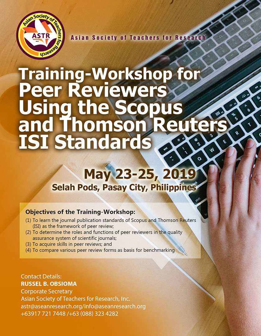 Asean Research Organization - Training-Workshop for Peer