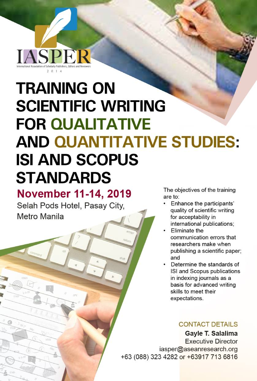 Workshop on scientificresearch paper writing unm ogs thesis